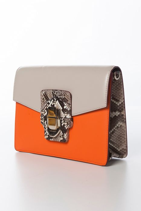 Dolce & Gabbana - Lucia Python and Leather Clutch