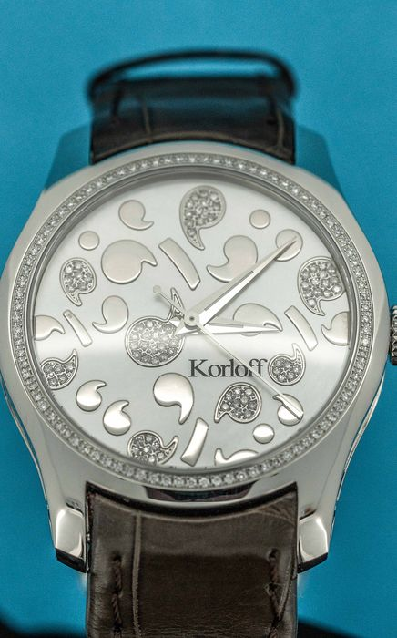 Korloff - Automatic Diamond 0.70 Carat Limited Edition Number 444 Mother of Pearl Crocodile strap Swiss Made  - CAK38/2A3 - Mujer - BRAND NEW