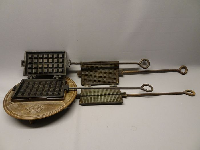waffle irons for pot stove (3) - cast iron
