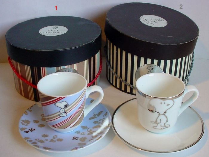 Schulz Sieger Design - Two boxes with espresso cup and saucer `The best of Snoopy` - Porcelain