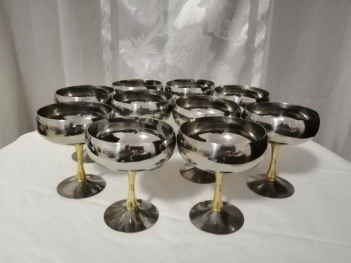 Ice Cream Cups (10) - Steel (stainless)