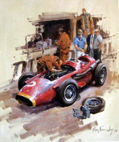Fine Art Print - Maserarti 250F - One of the greatest Formule 1 Cars - By Alan Fearnley - 1954-1958