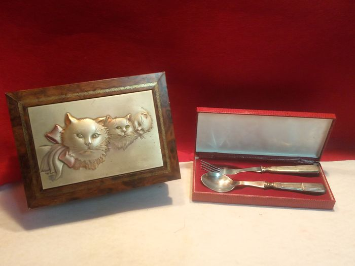 Box - 925 silver plated, 835 silver