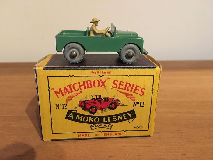 Matchbox Moko Lesney - 1:64 - Land Rover nr 12 A uit 1955 - in original box