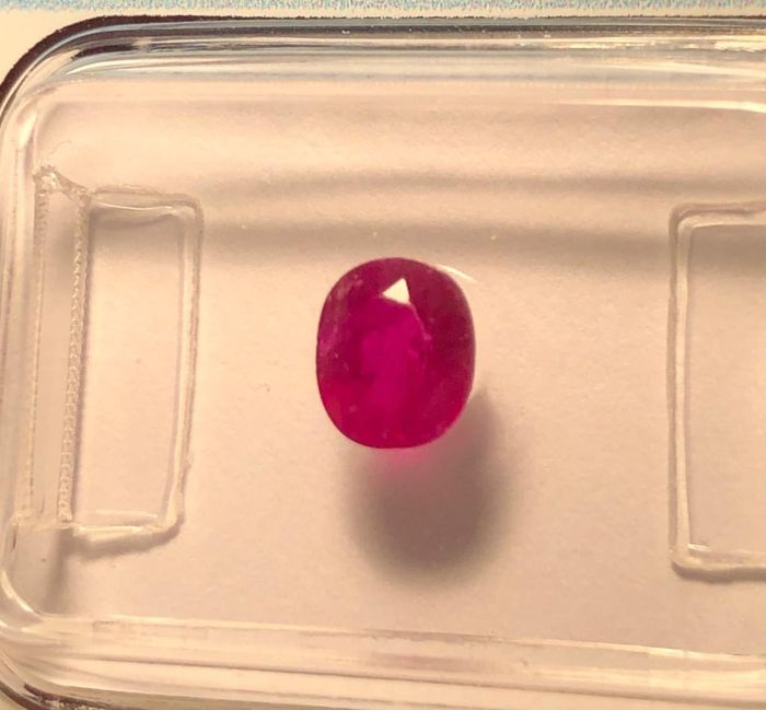Pinkish Red Good Color Quality( No reserve price) Ruby - 0.80 ct