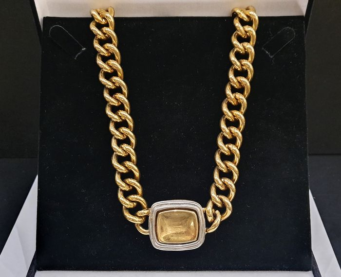 GIVENCHY 18kt gold plated - heavy Moghul Necklace