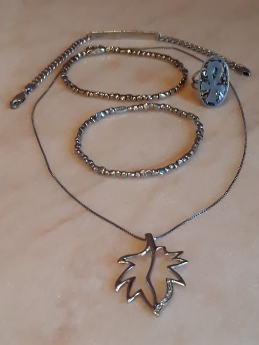 giodoro - 925 Silver - Bracelet, Necklace with pendant, Ring