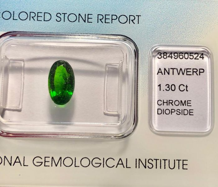 Green Chrome Diopside  - 1.30 ct