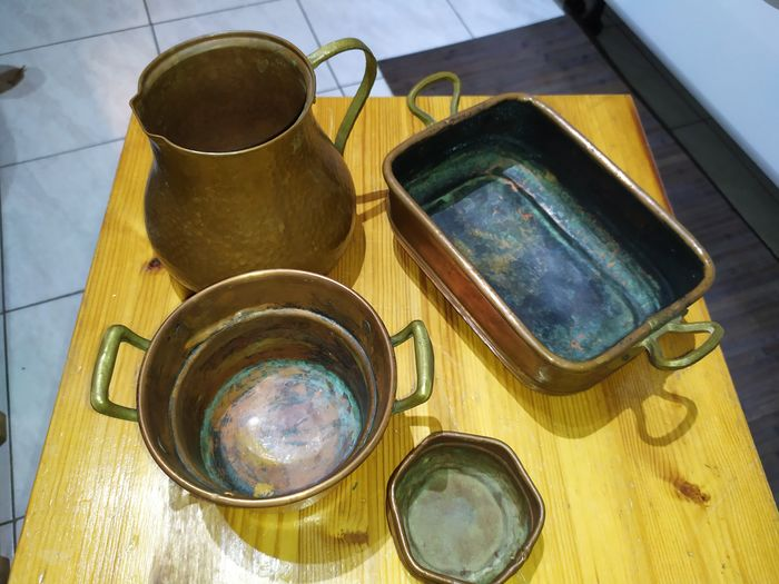 Pan, Poacher, pot jug (4) - Copper