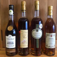 Geffard, Beau, Guynot, Fradon 15 years old - 4 different cognacs - 700ml, 70cl