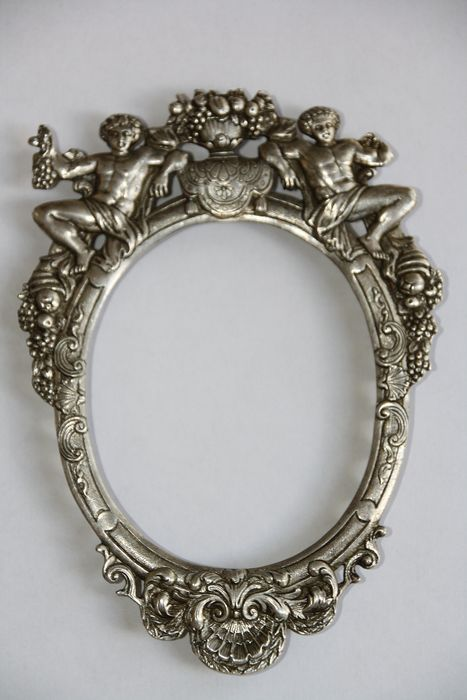 Old picture frame or mirror - Silver -  Wolf & Knell, Hanau - Germany - Late 19th century