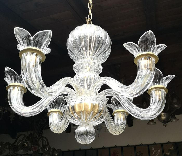 Murano chandelier 6 arms