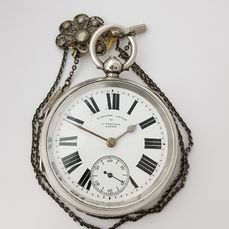 1902  - England Chester - A. Yewdall Leeds - English Lever - Silver Pocket Watch  - NO RESERVE PRICE - Miehet - 1901-1949