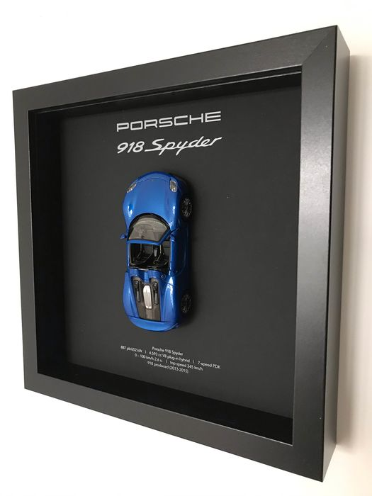 Artigo decorativo - Framed 3D object Porsche 918 Spyder - 2019