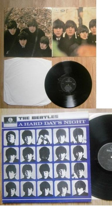 """Beatles -  """"Beatles For Sale"""" First Press  and """"A Hard days Night"""" from the 70ies Road"""" - Multiple titles - LP's - 1964/1970"""