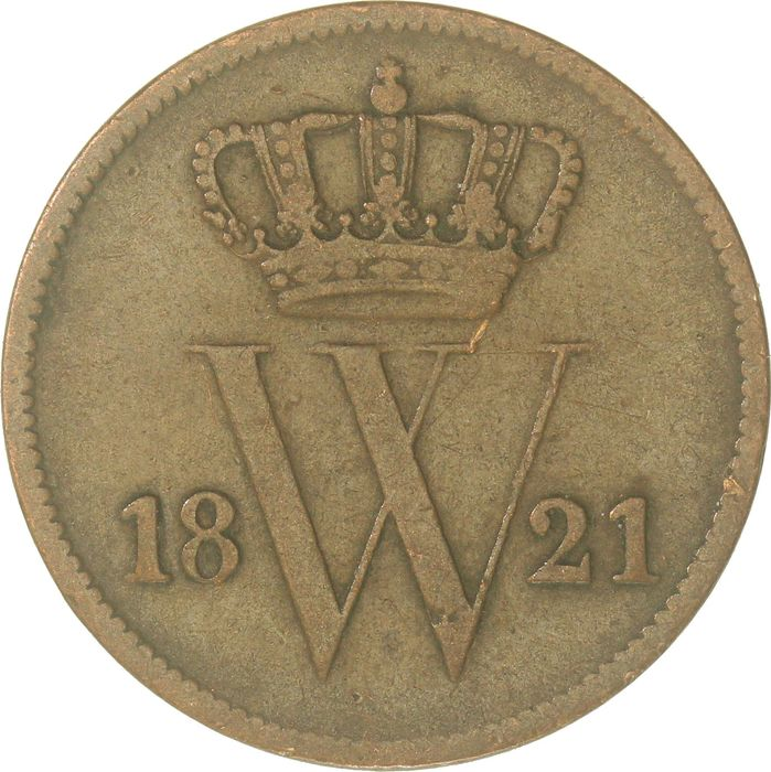 Pays-Bas - 1 Cent 1821 Brussel Willem I