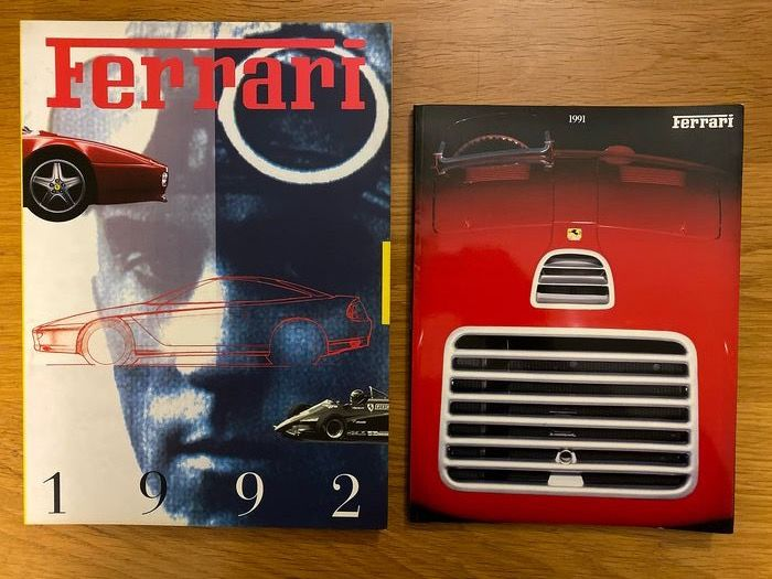Ferrari Year books - Original Ferrari 1991 &1992 yearbook - Ferrari - 1990-2000
