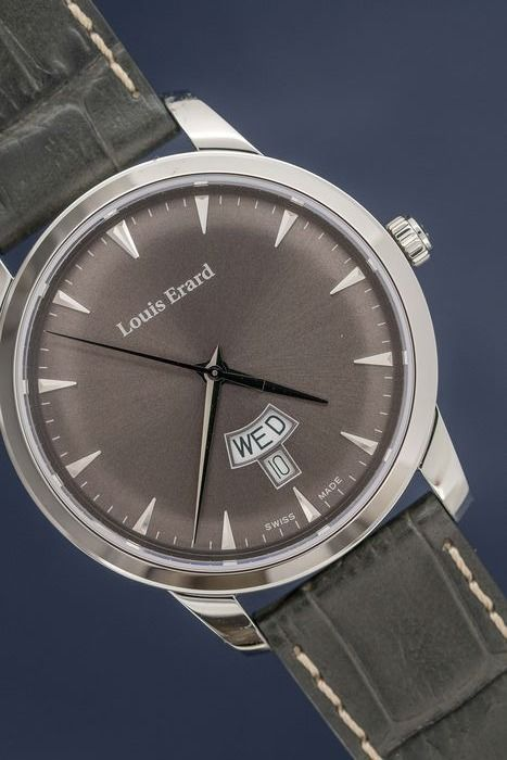 Louis Erard - Heritage Collection Grey Dial with Grey Leather Strap Swiss Made - 15920AA03.BEP103 - Heren - Brand New