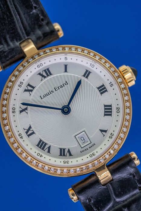 """Louis Erard - 60 Diamonds for 0.30 Carat Romance Collection IP Rose Gold Stainless Steel Swiss Made - 10800PS01.BRCA5 """"NO RESERVE PRICE"""" - Women - Brand New"""