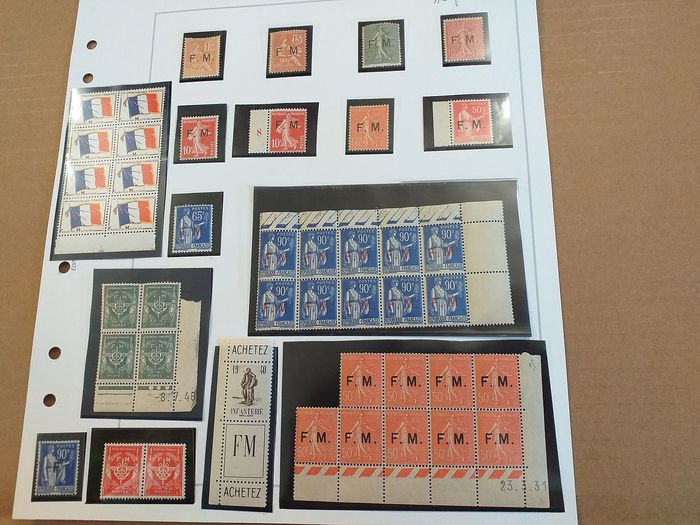 França 1901/1963 - Complete military franchise series, No. 1 to 13, mint ** - value: €1170 - Yvert