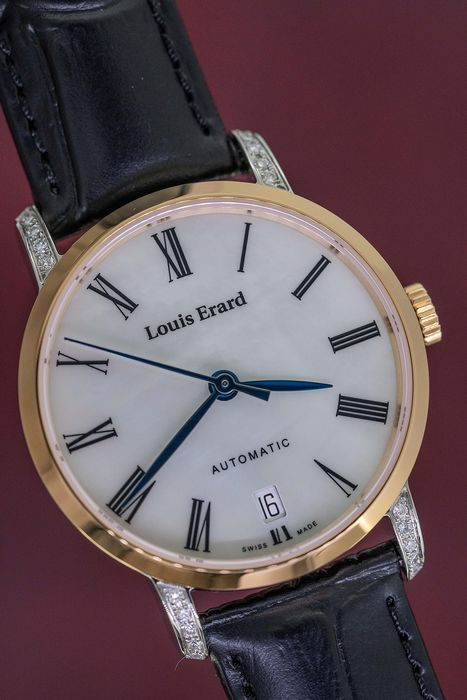 """Louis Erard - 20 Diamonds Automatic Excellence Collection Mother of Pearl Dial Rose Gold tone Swiss Made - 68235CB04.BMA54 """"NO RESERVE PRICE"""" - Femme - Brand New"""