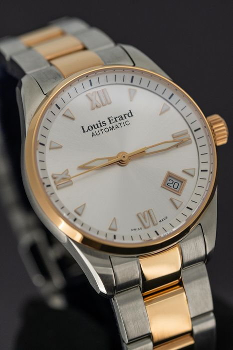 Louis Erard - Automatic Heritage Collection 2 Tone Rose Gold Swiss Made - 69103AB21.BMA33 - Senhora - BRAND NEW