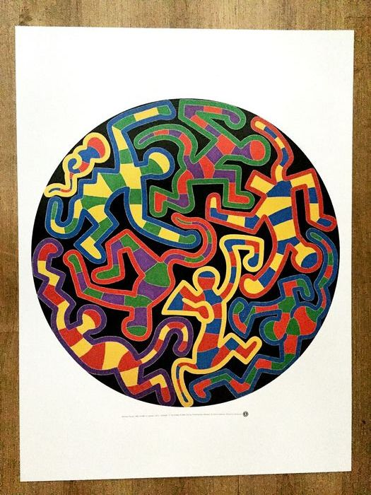 Keith Haring (after) - Monkey puzzle - 1988