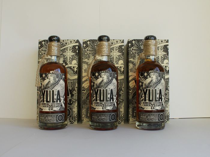 Yula Trilogy Story Chapter One, Two & Three - 20, 21,  22 years old Limited Edition 900 Bottles Worldwide - Complete Set - Douglas & Laing - b. 2015 - 2016 - 2017 - 700ml - 3 bottles