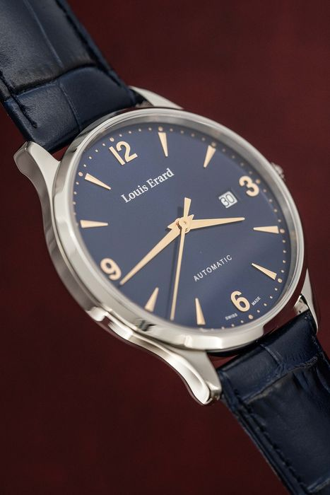 Louis Erard - Automatic 1931 Collection Blue and rose gold tone Swiss Made - 69219AA15.BDC84 - Heren - BRAND NEW