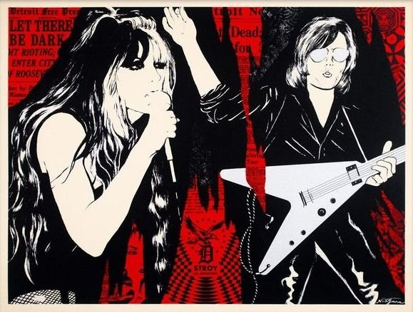 Shepard Fairey (OBEY) x Niagara - Let there be dark (Rouge)