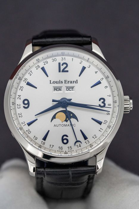 Louis Erard - Automatic 1931 Moon Phase - Day/Date/Month Swiss Made - 31218AA21.BDC02 - Homem - Brand New