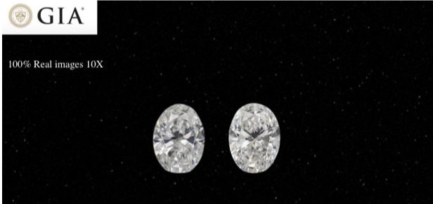2 pcs Diamantes - 0.82 ct - Oval - D (incolor) - VVS1