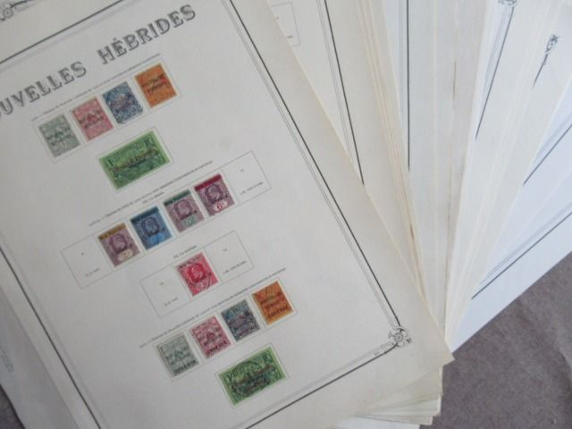 Neue Hebriden 1908/1976 - Advanced collection of stamps