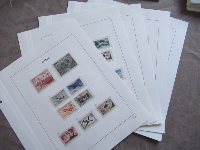 França - Collection of end of catalogue including airmail stamps