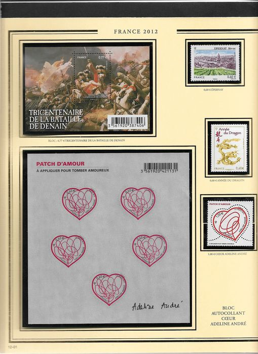 França 2012/2014 - A lovely set of complete years 2012/2014 with blocks, sheetlets, booklets and self-adhesive stamps - Yvert N° 4631 à 4922
