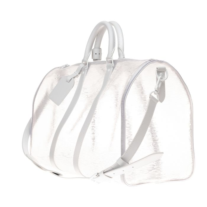 Louis Vuitton - Brand New-Limited edition- Keepall 50 bandoulière en PVC transparent épi blanc - Reisetasche