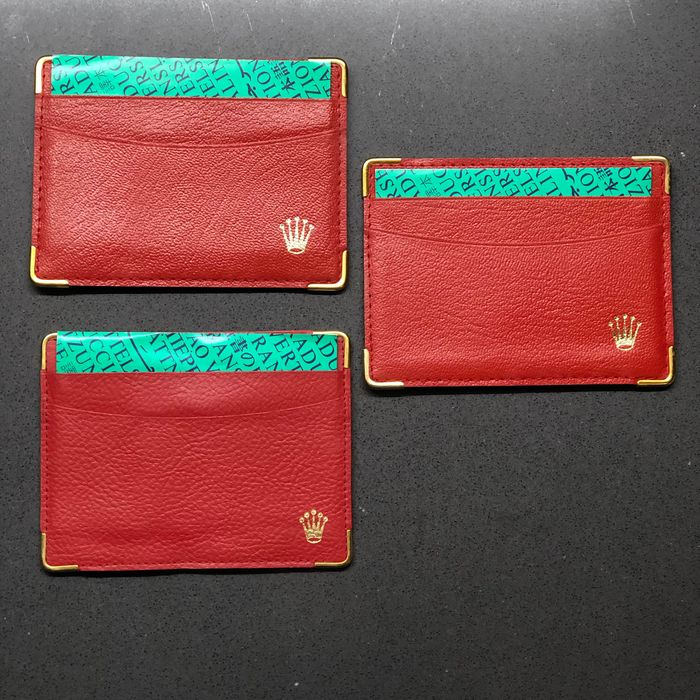 Rolex - Set of 3 Red Leather Card holder with Instruction booklet - 0101.60.34 - 101.60.55 - 0101.60.34 - Unisexe - 2011-aujourd'hui