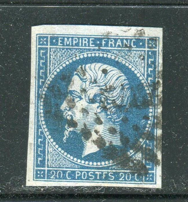 "França 1854 - Superb No. 14Ah - ""POSTFS"" varieties, definitive proof"