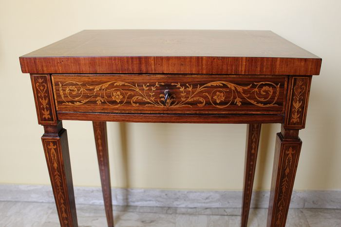 Centre Table Louis Xvi Style Ebony Kingwood Second Half