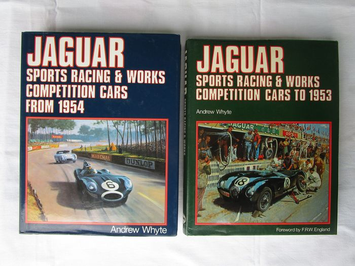 Livros - Jaguar, Sports Racing + Works Competition Cars 1. to 1953  2. from 1954