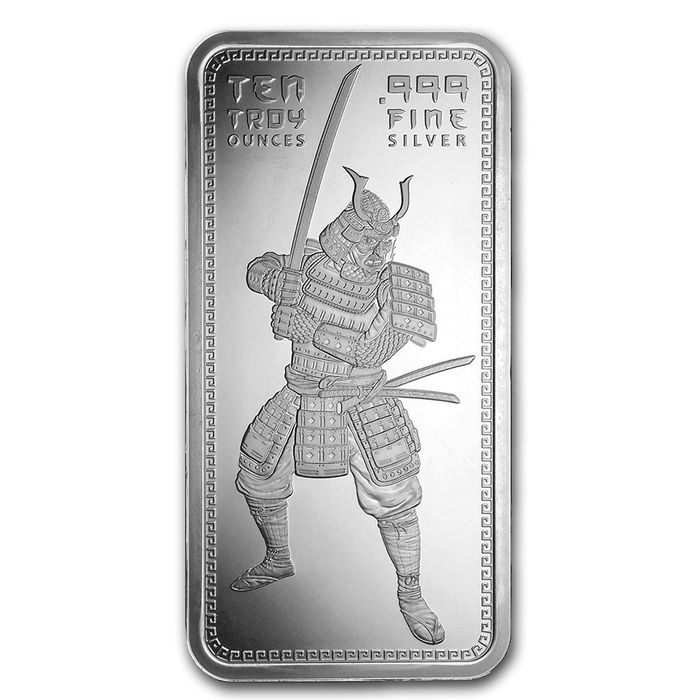Silver 10 oz Samurai Warrior Bar