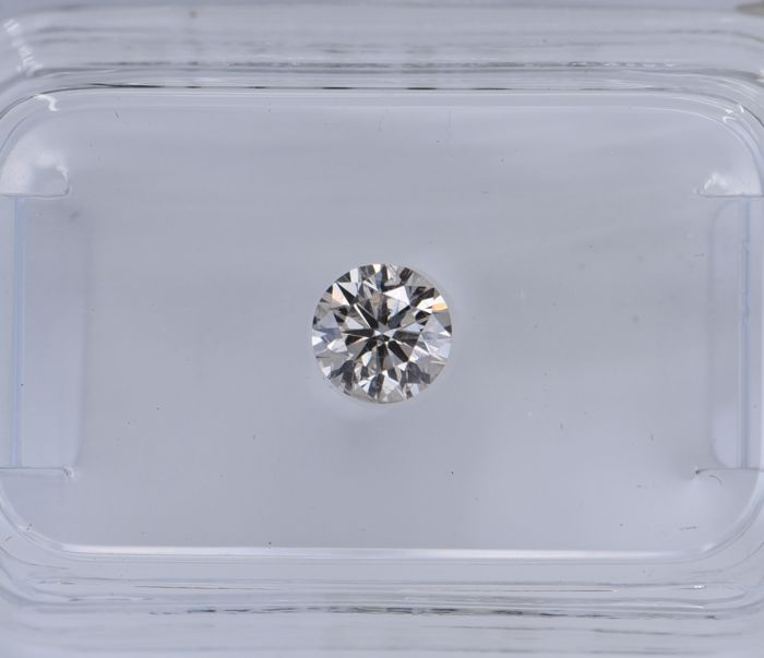 1 pcs Diamante - 0.36 ct - Redondo - light brown - SI2, No Reserve Price!