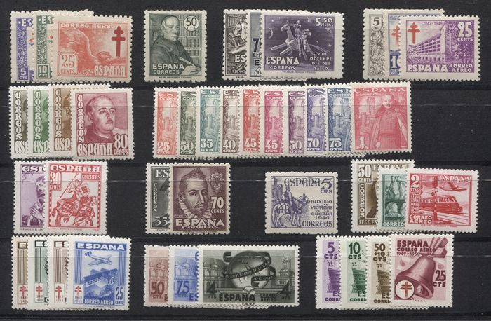 Spanien 1940/1949 - 25 complete sets of the First Centennial - Edifil