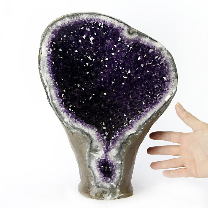 Uruguay Amehtyst Perfect Crystals Geode - 380×270×135 mm - 12200 g