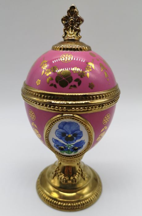 House of Faberge Pansy Musical Egg - Porselein