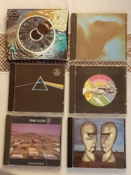Pink Floyd - Meddle, A momentary lapse of reason,  the division bell, Pulse - 2 Álbuns LP (álbum duplo), CD - 1971/24