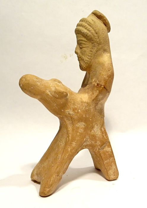 Parthian Terracotta Rider and horse - Horse and Rider - 11.2×6.6×3.6 cm