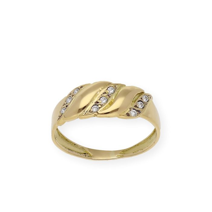 18 kt. Gold, Yellow gold - Ring - 0.20 ct Diamond