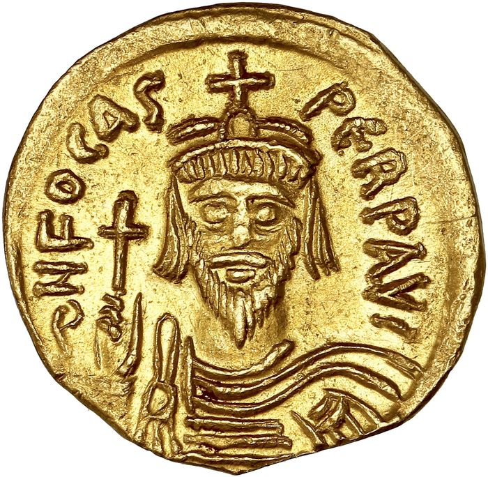 Empire byzantin. Phocas (602-610 apr. J.-C.). AV Solidus