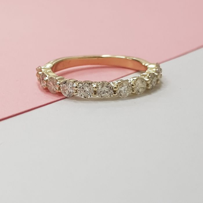 14 kt. Yellow gold - Ring - 1.00 ct Diamond - F VS1